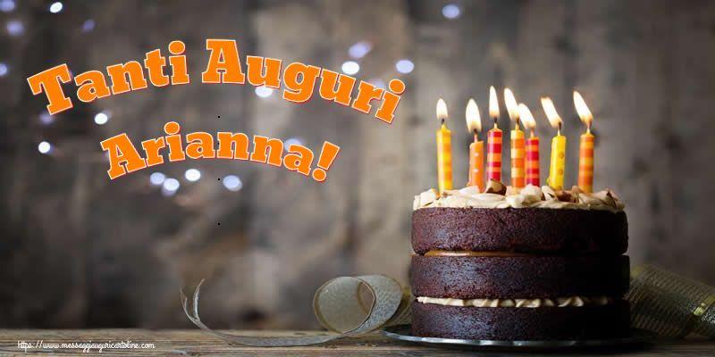 Cartoline di compleanno - Tanti Auguri Arianna!