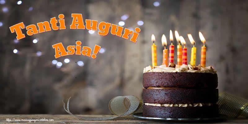 Cartoline di compleanno - Tanti Auguri Asia!