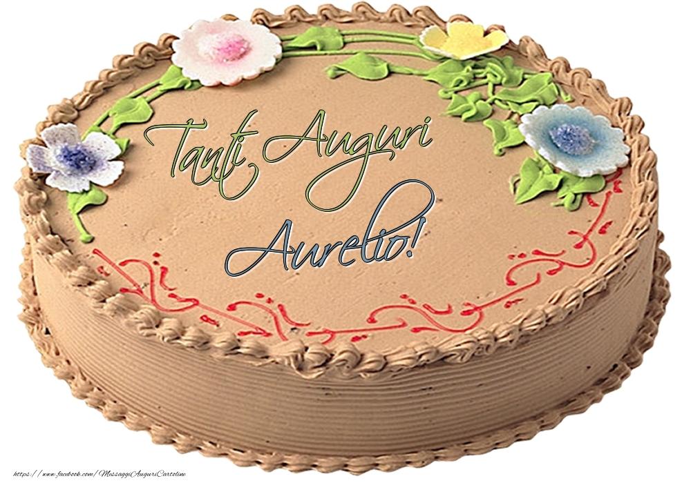 Cartoline di compleanno - Aurelio - Tanti Auguri! - Torta