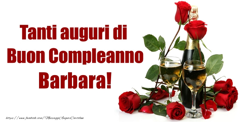 Torta E Fiori Buon Compleanno Barbara Cartoline Di