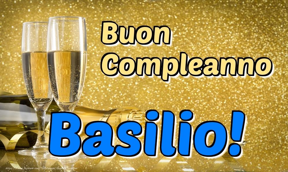 Cartoline di compleanno - Buon Compleanno Basilio!