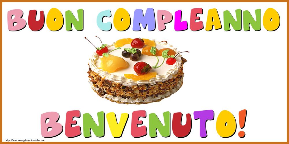 Cartoline di compleanno - Buon Compleanno Benvenuto!