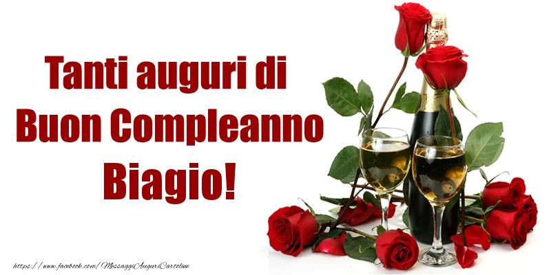 Cartoline di compleanno - Tanti auguri di Buon Compleanno Biagio!