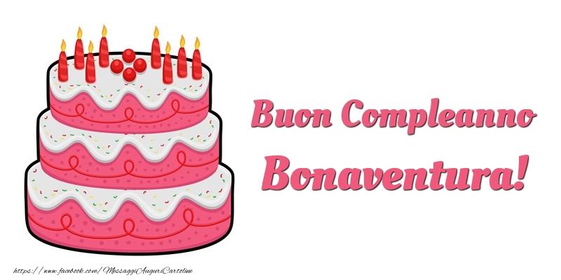 Cartoline di compleanno - Torta Buon Compleanno Bonaventura