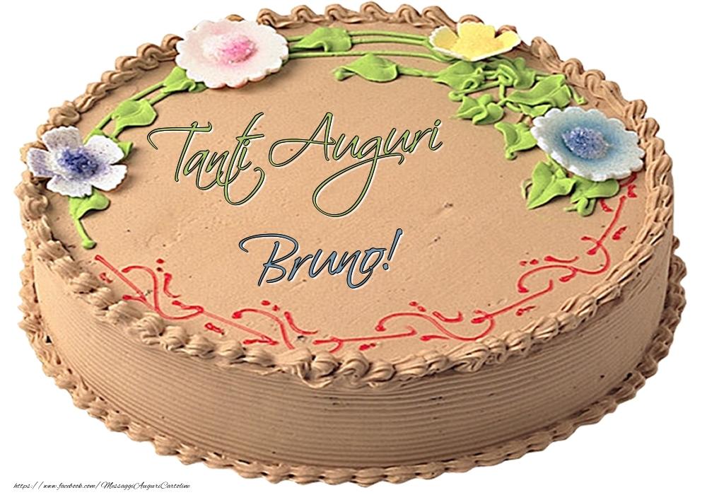 Cartoline di compleanno - Bruno - Tanti Auguri! - Torta