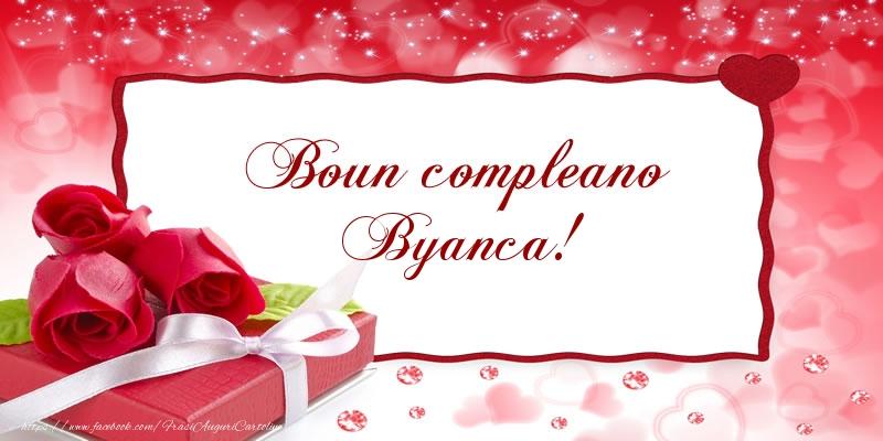 Cartoline di compleanno - Boun compleano Byanca!