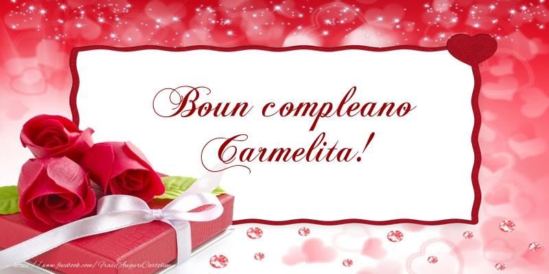 Cartoline di compleanno - Boun compleano Carmelita!