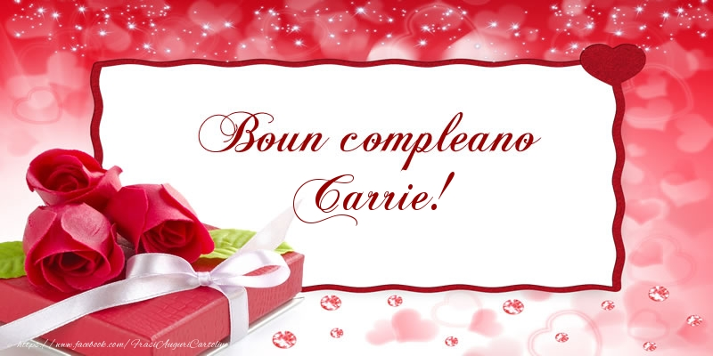 Cartoline di compleanno - Boun compleano Carrie!