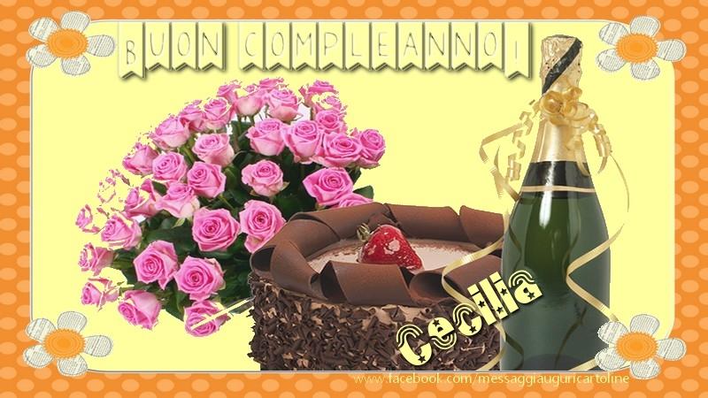 Cartoline di compleanno - Buon compleanno Cecilia