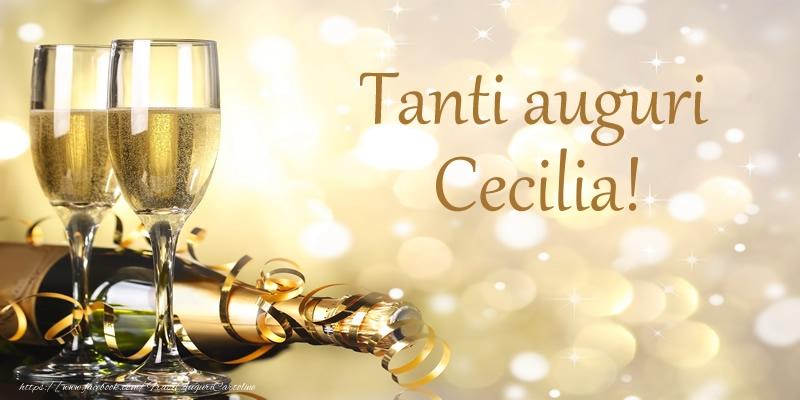 Cartoline di compleanno - Tanti auguri Cecilia!