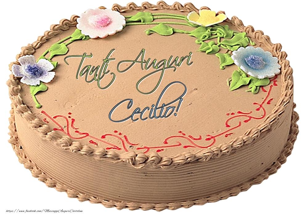 Cartoline di compleanno - Cecilio - Tanti Auguri! - Torta