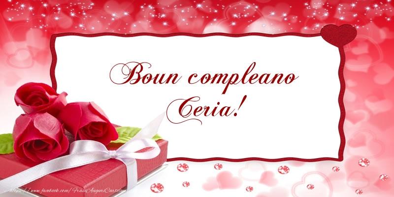 Cartoline di compleanno - Boun compleano Ceria!