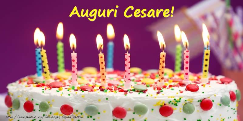 Cartoline di compleanno - Auguri Cesare!