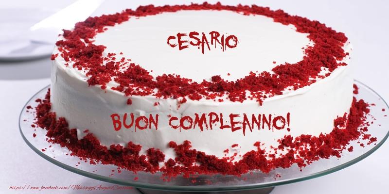 Cartoline di compleanno - Torta Cesario Buon Compleanno!