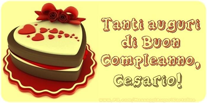 Cartoline di compleanno - Tanti Auguri di Buon Compleanno, Cesario