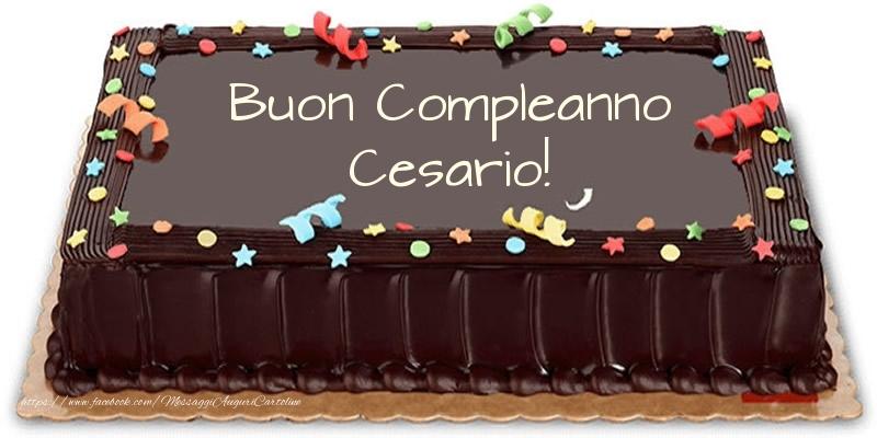 Cartoline di compleanno - Torta Buon Compleanno Cesario!