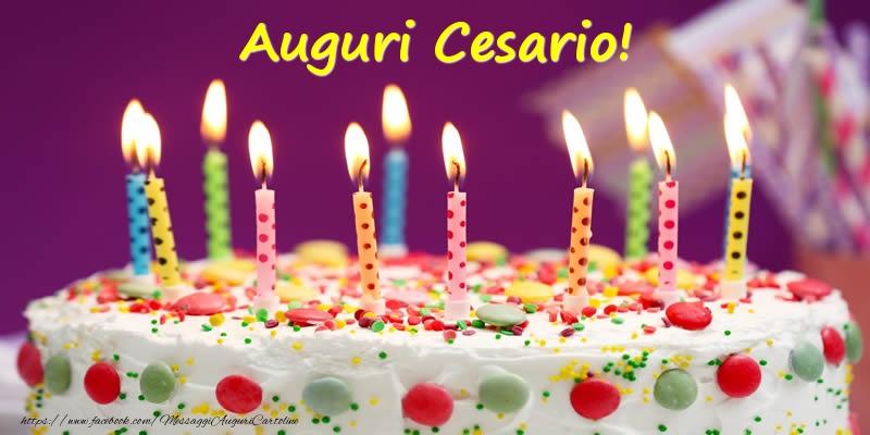 Cartoline di compleanno - Auguri Cesario!