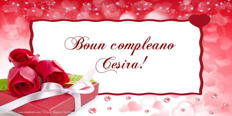 Cartoline di compleanno - Boun compleano Cesira!