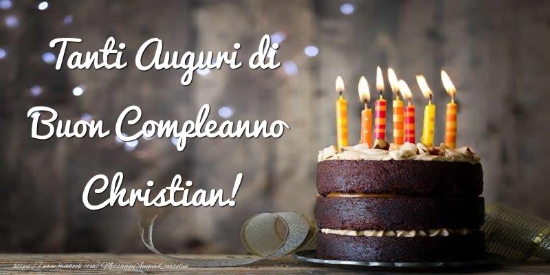 Cartoline di compleanno - Tanti Auguri di Buon Compleanno Christian!