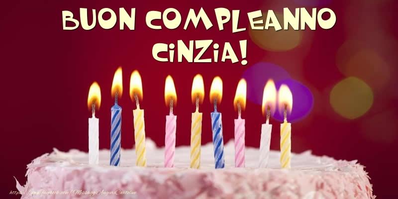 Cartoline di compleanno - Torta - Buon compleanno, Cinzia!