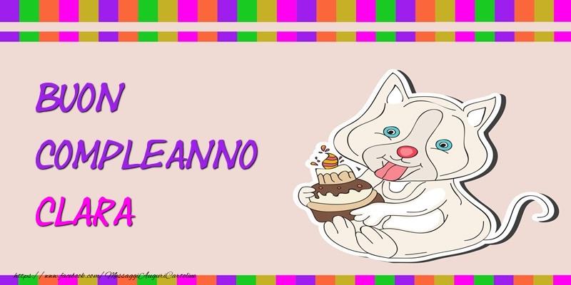 Cartoline di compleanno - Buon Compleanno Clara