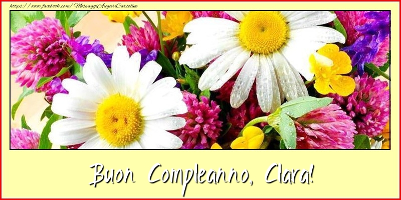 Cartoline di compleanno - Buon Compleanno, Clara!