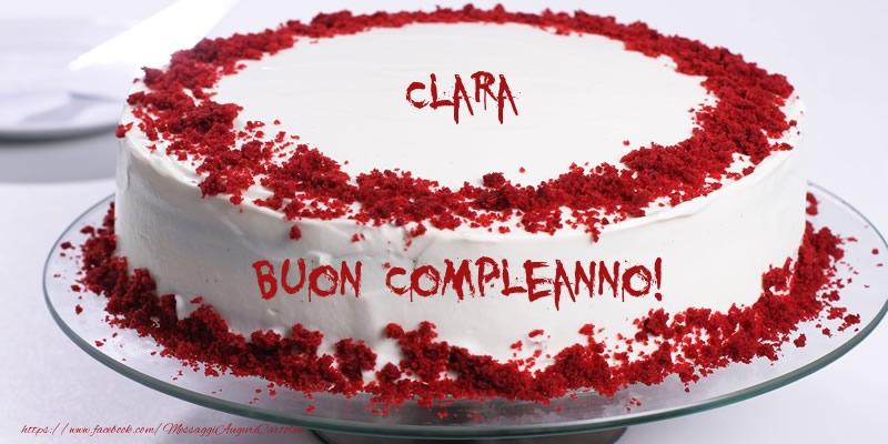 Cartoline di compleanno - Torta Clara Buon Compleanno!