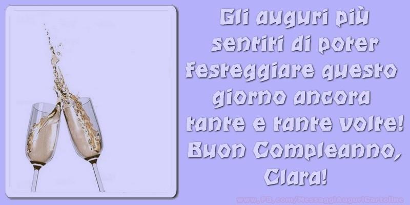 Cartoline di compleanno - Buon compleanno Clara,
