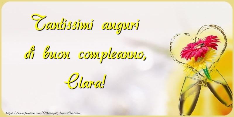 Cartoline di compleanno - Tantissimi auguri di buon compleanno, Clara
