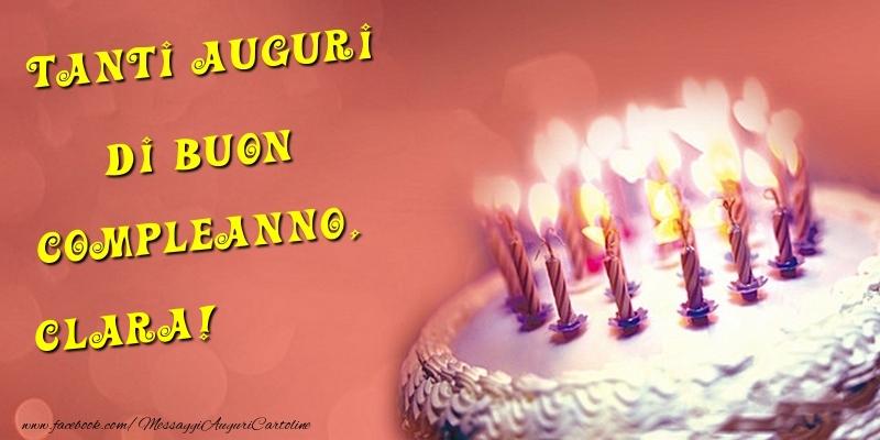 Cartoline di compleanno - Tanti Auguri di Buon Compleanno, Clara