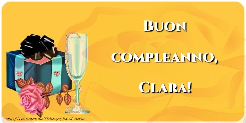 Cartoline di compleanno - Buon compleanno, Clara