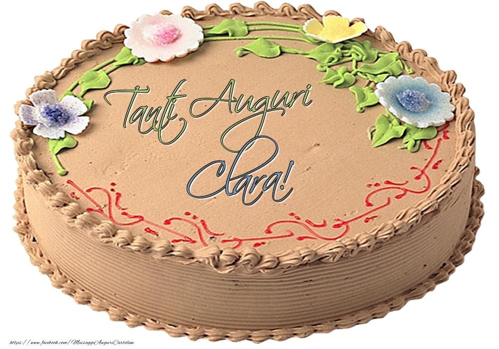 Cartoline di compleanno - Clara - Tanti Auguri! - Torta