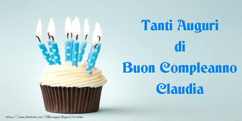 Cartoline di compleanno - Tanti Auguri di Buon Compleanno Claudia