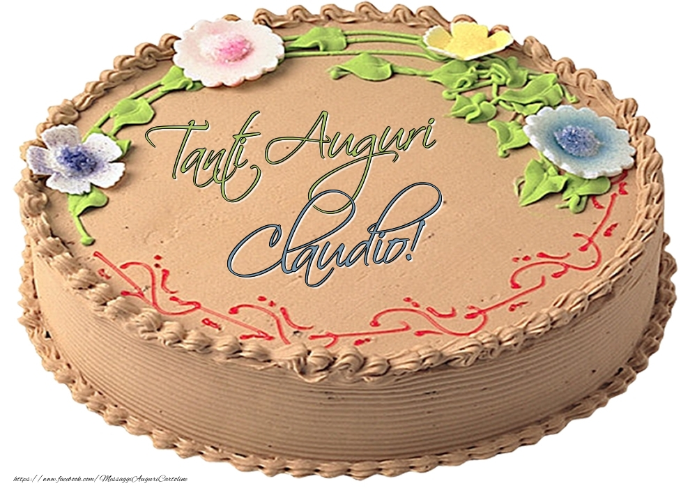 Cartoline di compleanno - Claudio - Tanti Auguri! - Torta