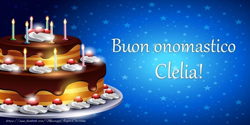 Cartoline di compleanno - Buon onomastico Clelia!