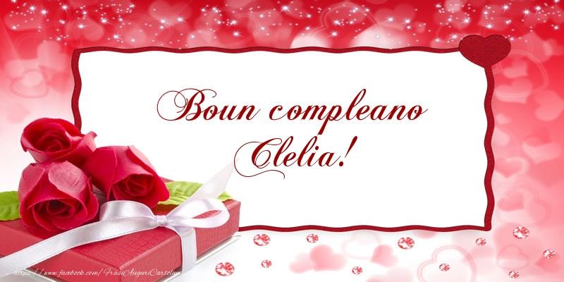 Cartoline di compleanno - Boun compleano Clelia!