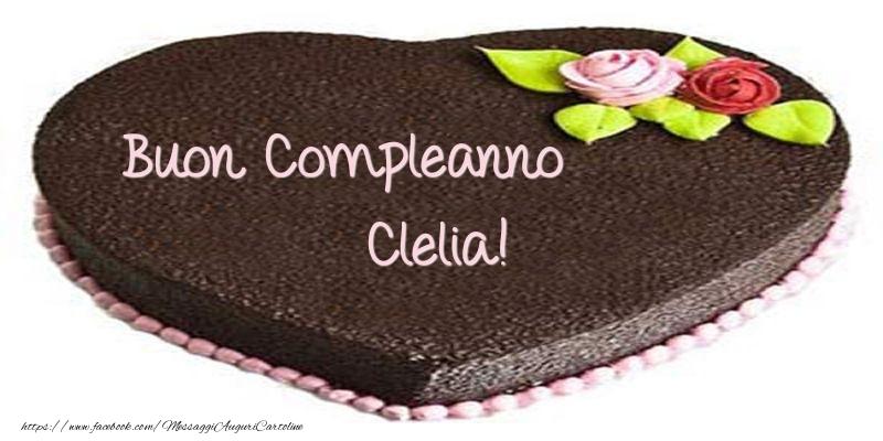 Cartoline di compleanno - Torta di Buon compleanno Clelia!