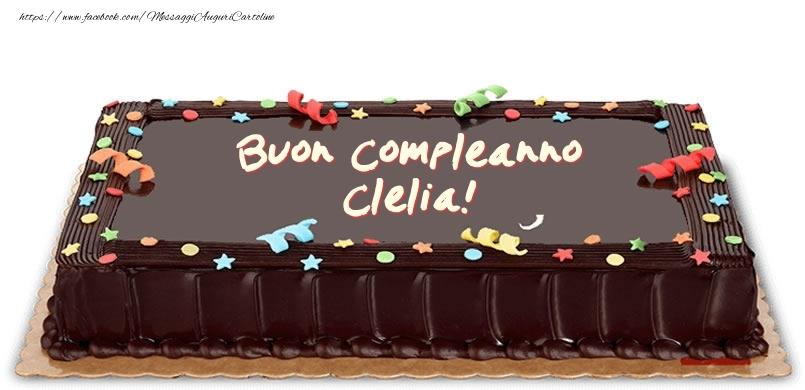 Cartoline di compleanno - Torta di compleanno per Clelia!