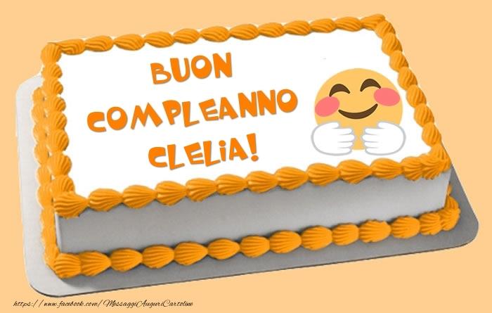 Cartoline di compleanno - Torta Buon Compleanno Clelia!