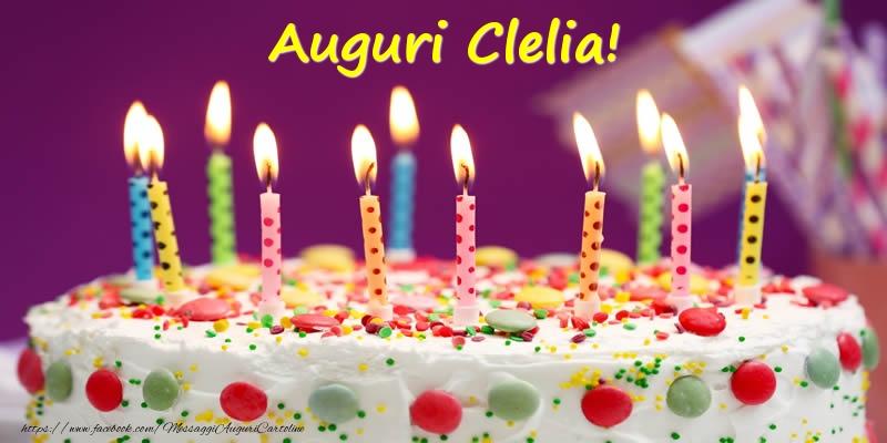 Cartoline di compleanno - Auguri Clelia!