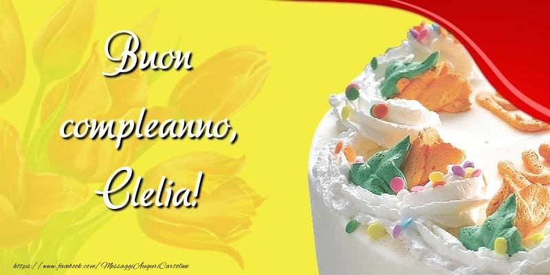 Cartoline di compleanno - Buon compleanno, Clelia