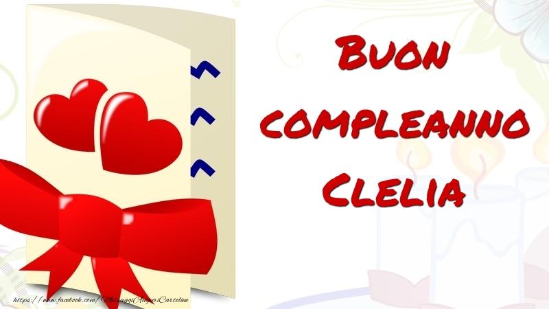 Cartoline di compleanno - Buon compleanno Clelia