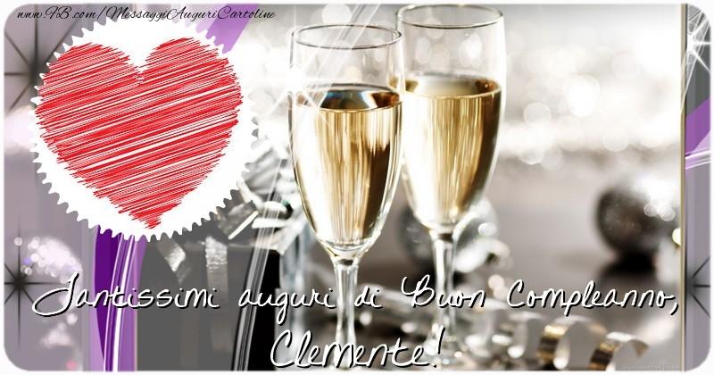 Cartoline di compleanno - Tantissimi auguri di Buon Compleanno, Clemente
