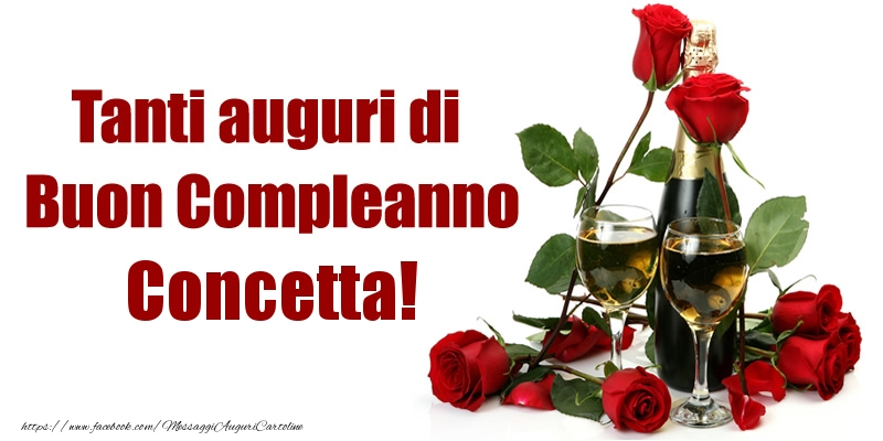 Cartoline di compleanno - Tanti auguri di Buon Compleanno Concetta!