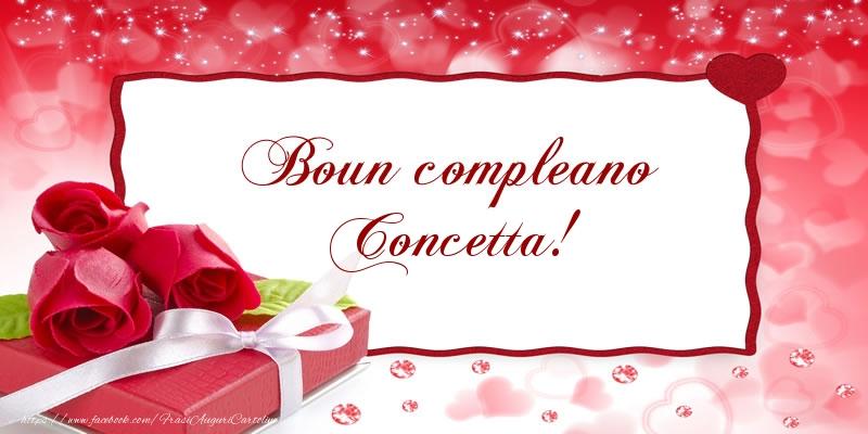 Cartoline di compleanno - Boun compleano Concetta!