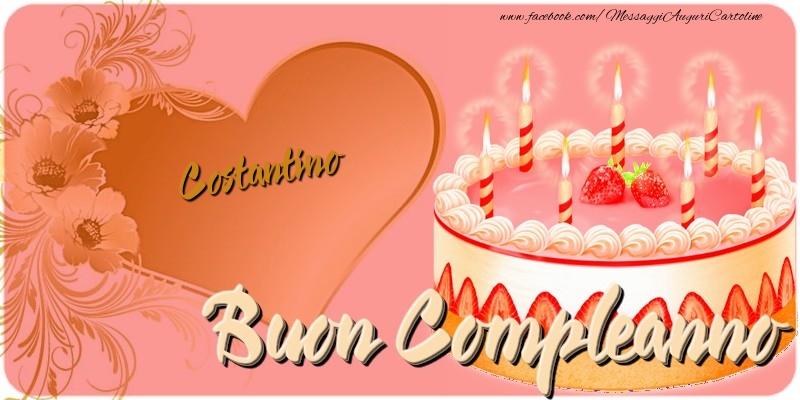 Cartoline di compleanno - Buon Compleanno Costantino