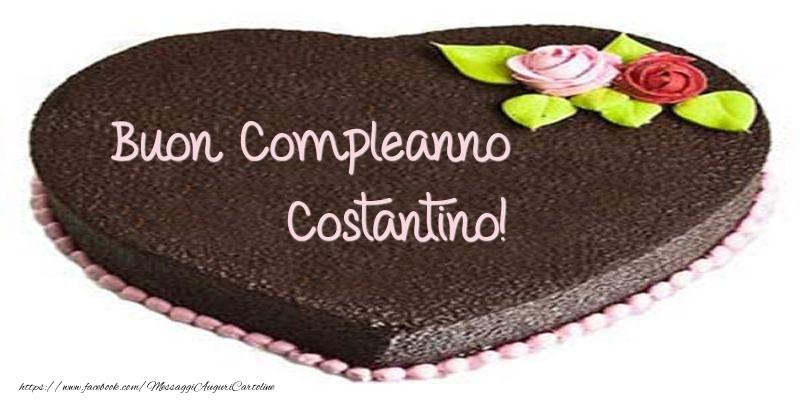 Cartoline di compleanno - Torta di Buon compleanno Costantino!