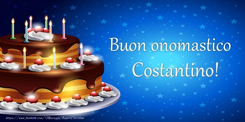 Cartoline di compleanno - Buon onomastico Costantino!