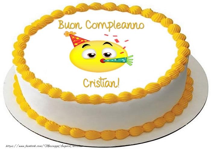 Cartoline di compleanno - Torta Buon Compleanno Cristian!