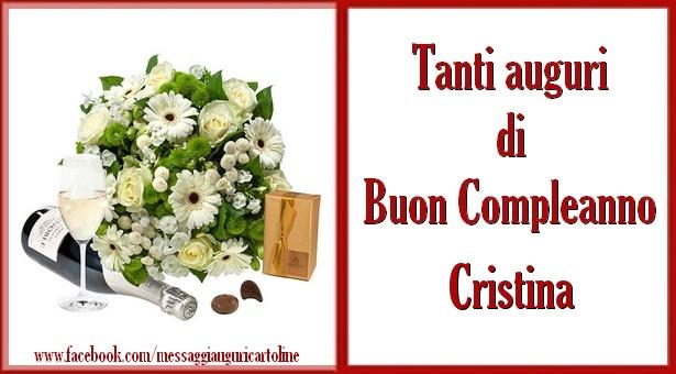 Cartoline di compleanno - Tanti auguri di Buon Compleanno Cristina